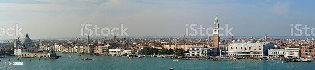 Aerial panorama of Venice royalty-free stock photo