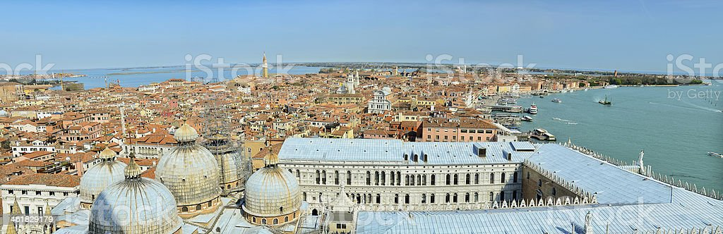 Aerial panoramic view of venice city royalty-free stock photo
