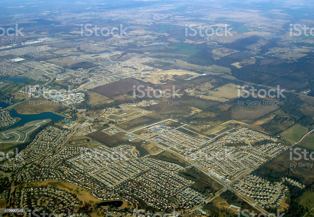 Aerial - Parking royalty-free stock photo