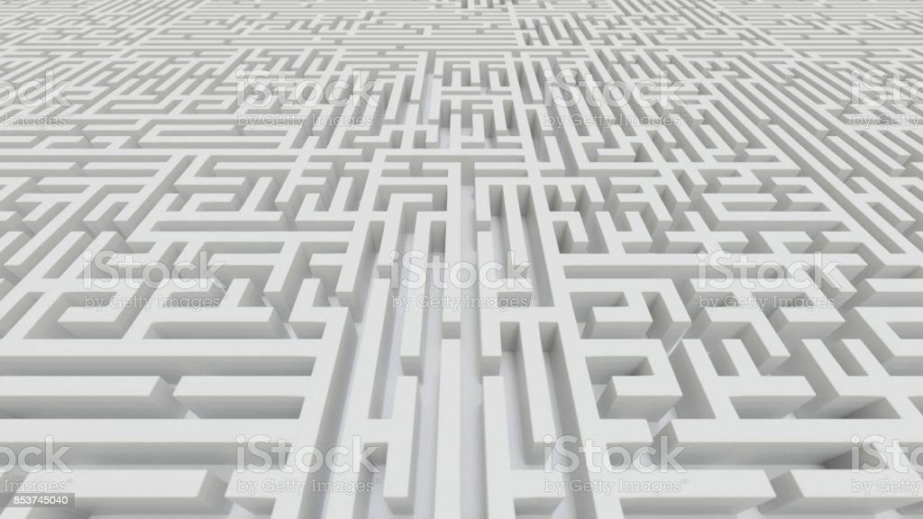 Aerial Perspective of a Huge White Stone Maze stock photo