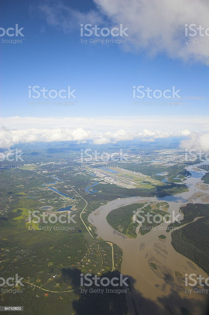 Aerial photo backgrounds royalty-free stock photo