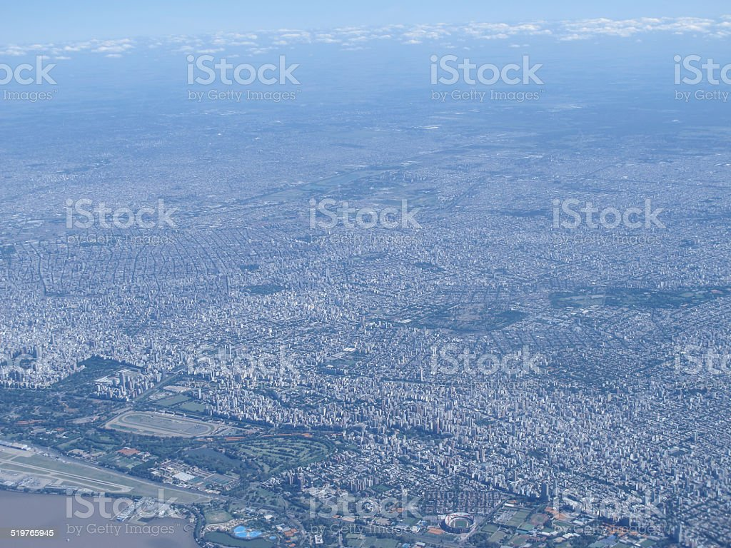 Aerial photo Buenos Aires, Argentina stock photo