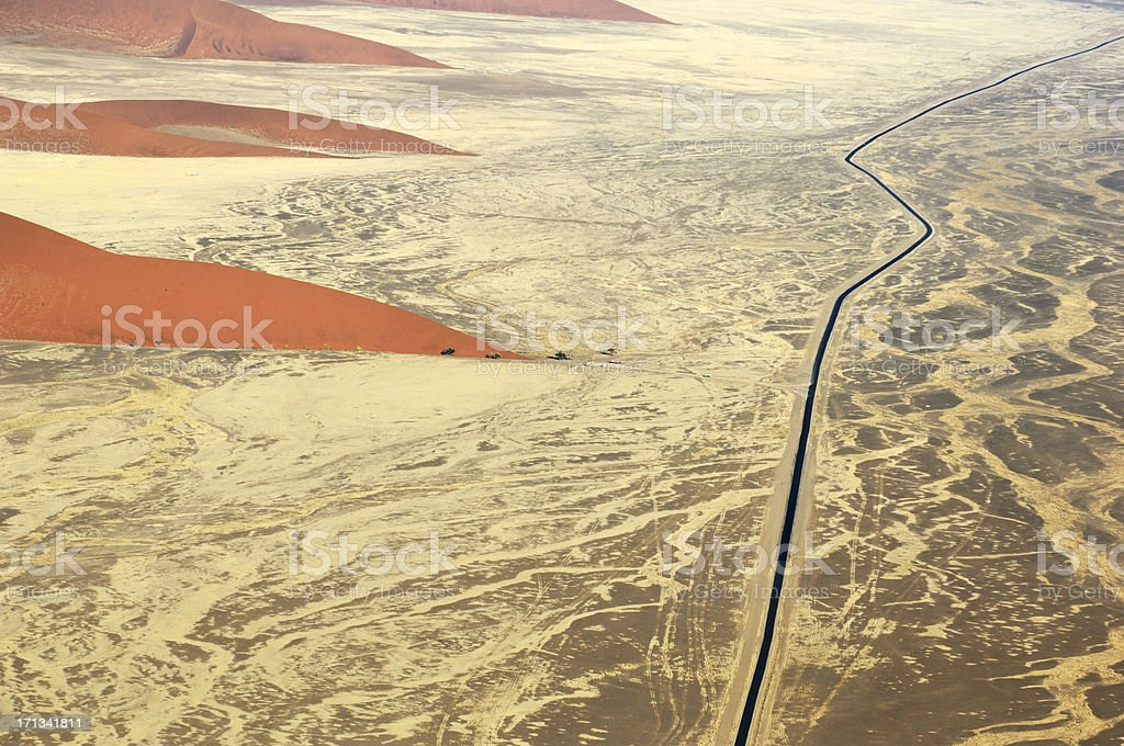 Aerial photo from Dune 45 stock photo