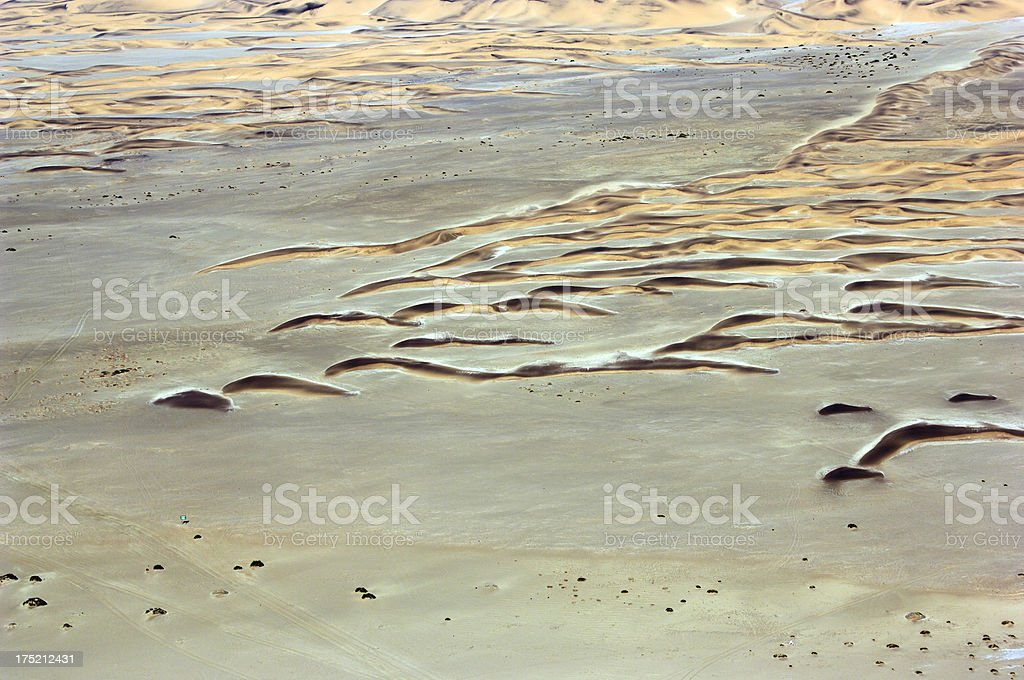 Aerial photo from small dunes near the Ocean stock photo