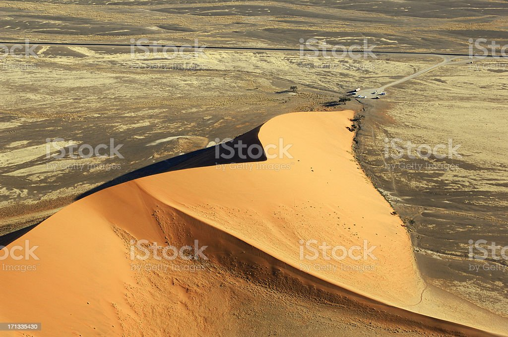 Aerial photo from the famous Dune 45 stock photo