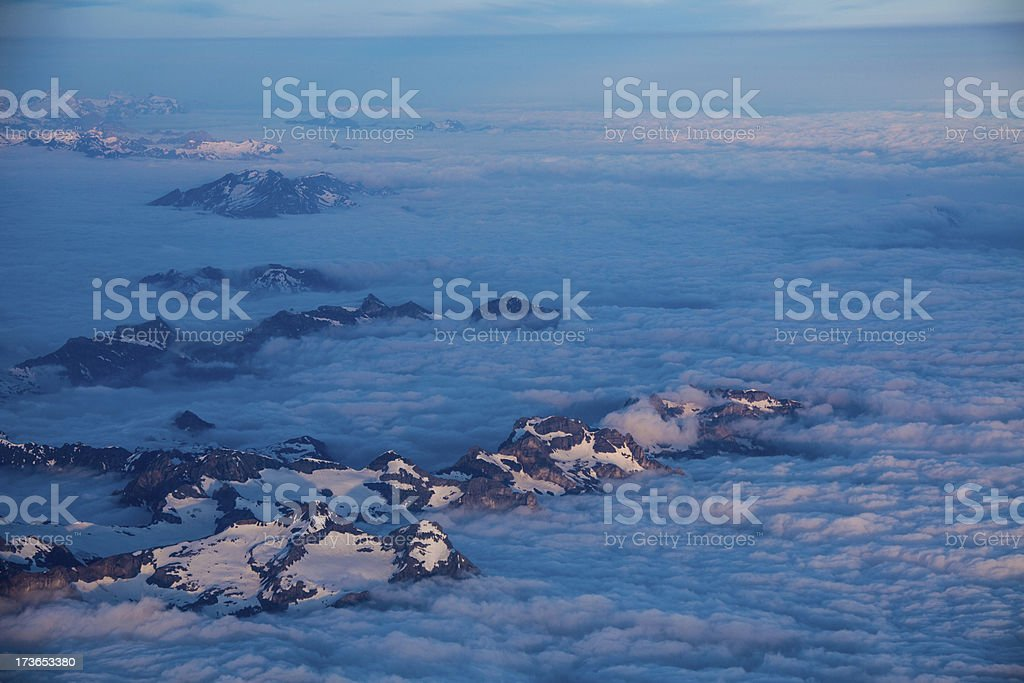 Aerial photo from the Swiss Alps royalty-free stock photo