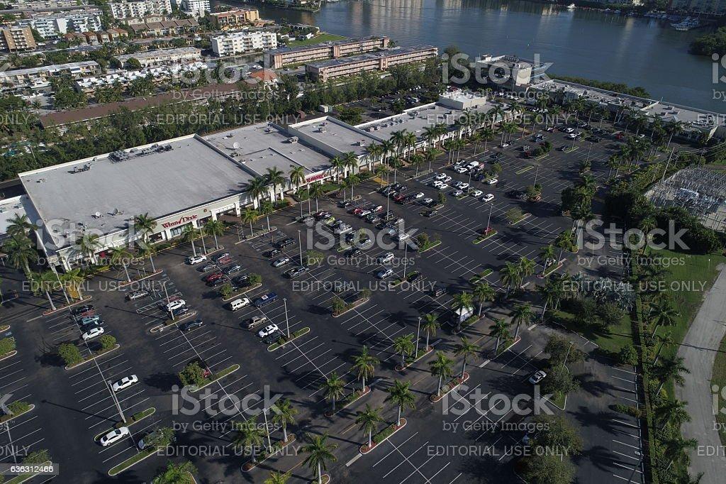 Aerial photo Intracoastal Mall stock photo