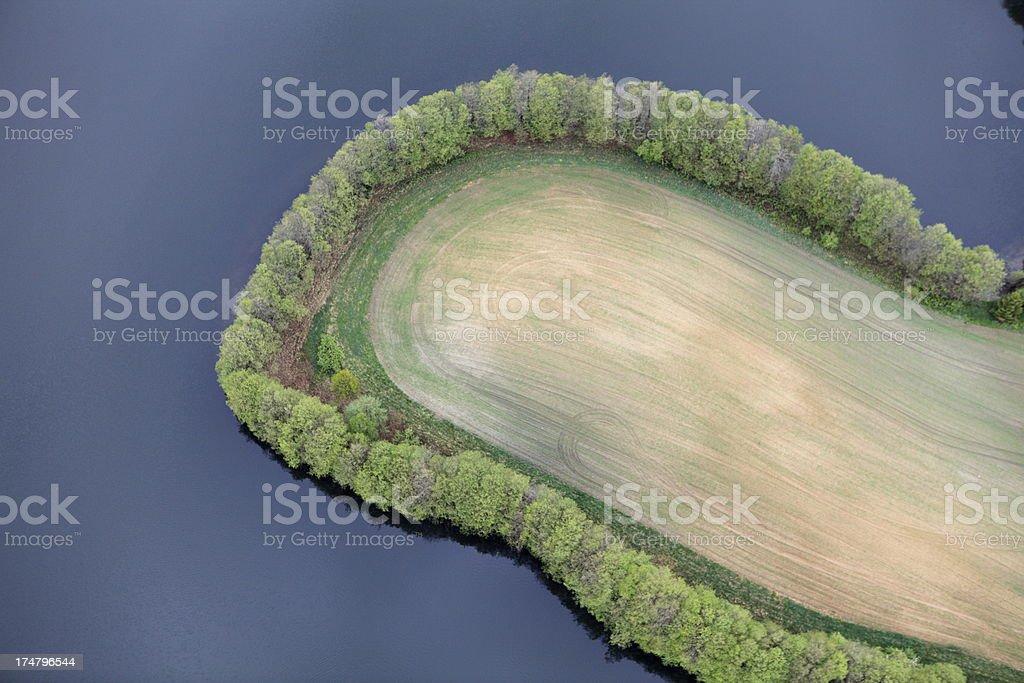 Aerial photo of a peninsula royalty-free stock photo