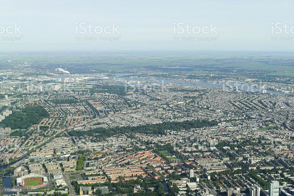 aerial photo of Amsterdam, netherlands royalty-free stock photo