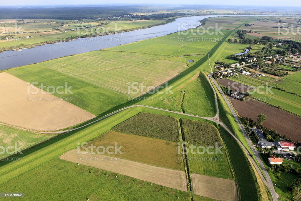 Aerial photo of Embankment royalty-free stock photo