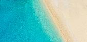 Aerial photo of empty beach