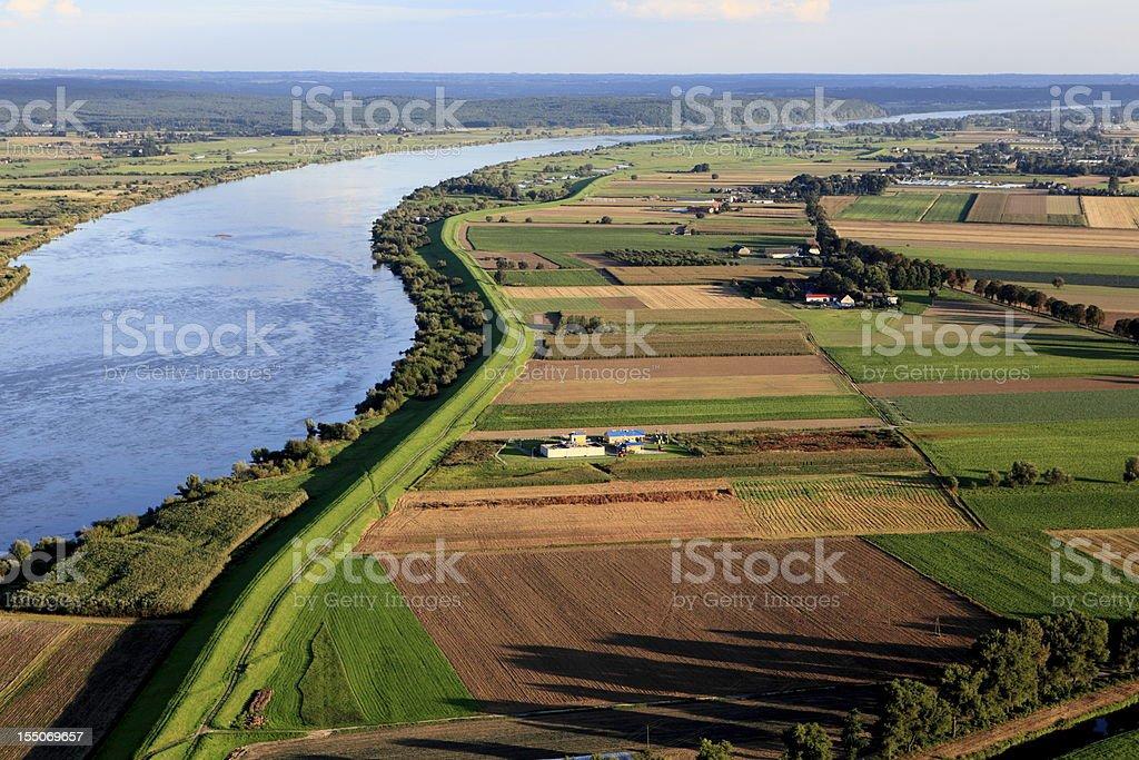 Aerial photo of Farmland royalty-free stock photo