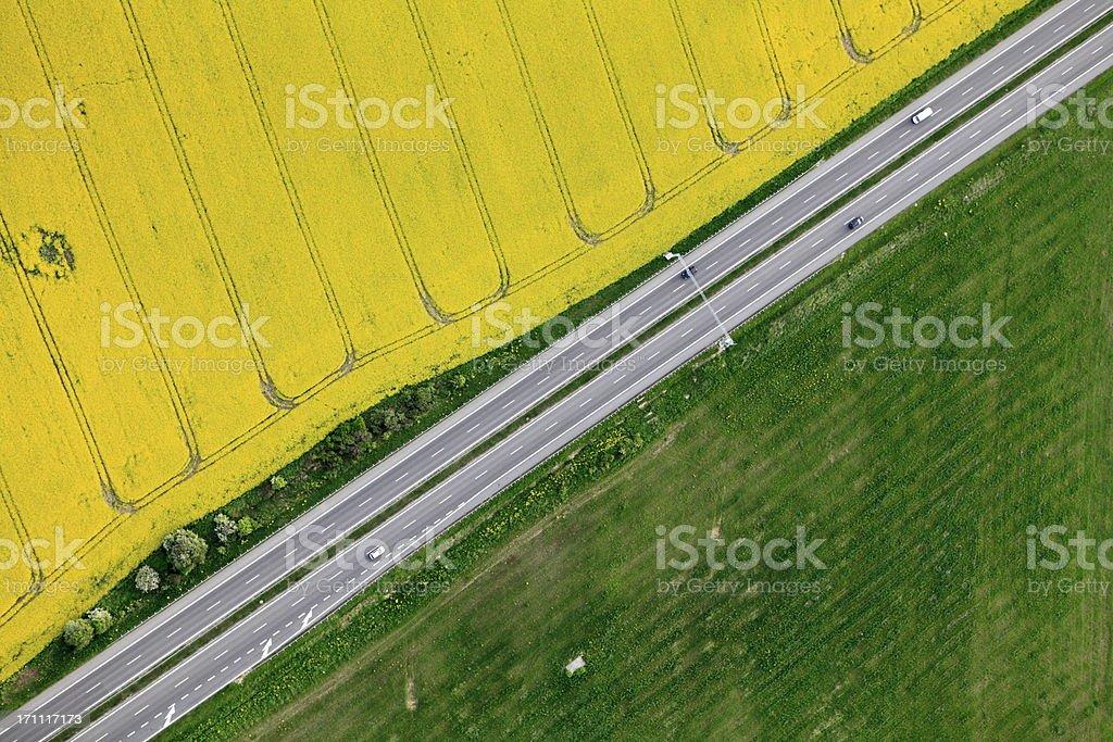 Aerial photo of Farmland stock photo