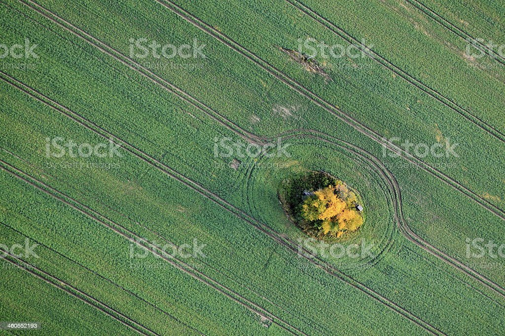 Aerial photo of Farmland royalty-free stock photo