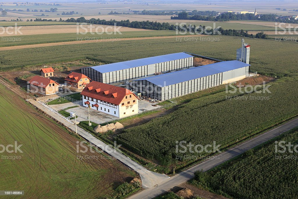 Aerial photo of  Food Processing Plant stock photo