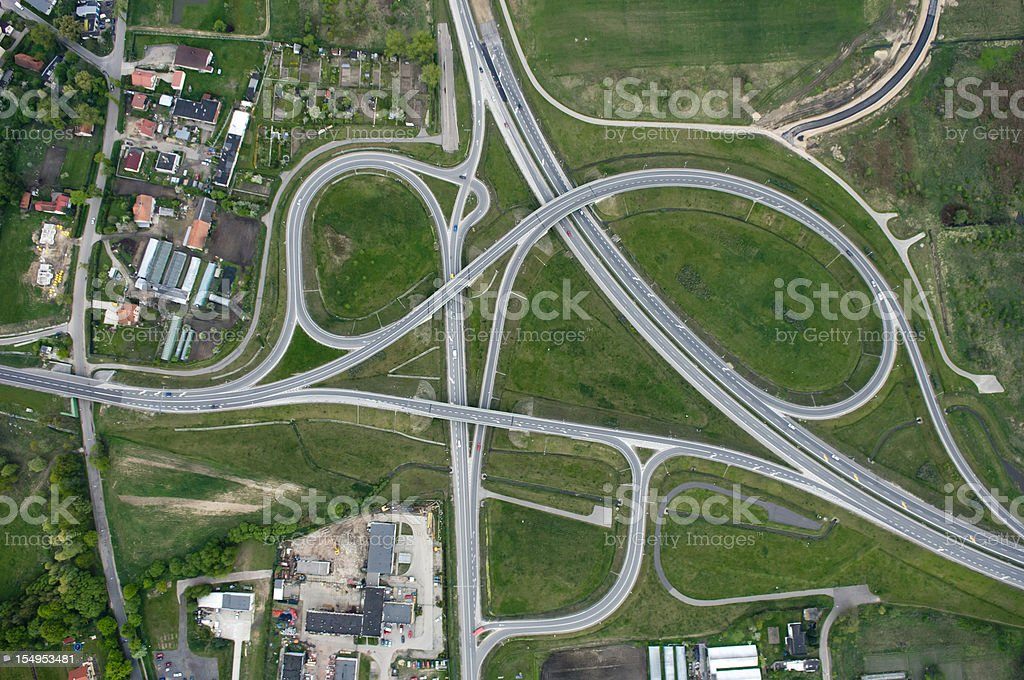 Aerial photo of Highway royalty-free stock photo