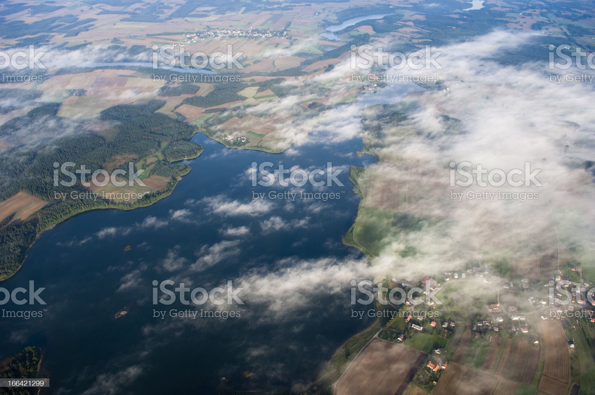 Aerial photo of Lake royalty-free stock photo
