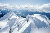 Aerial photo of Mount Garibaldi, Squamish BC