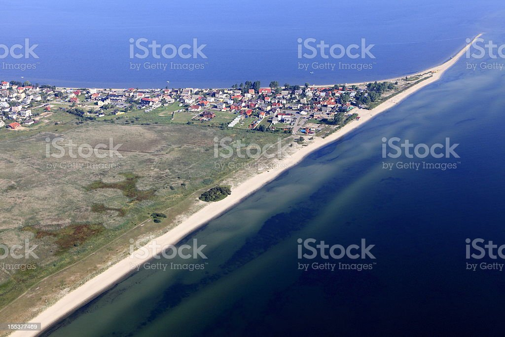 Aerial photo of peninsula.Rewa royalty-free stock photo