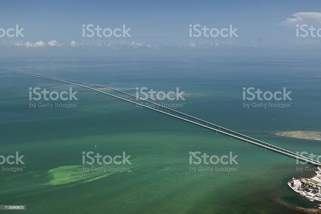 Aerial photo of Seven Mile Bridge, Florida Keys royalty-free stock photo