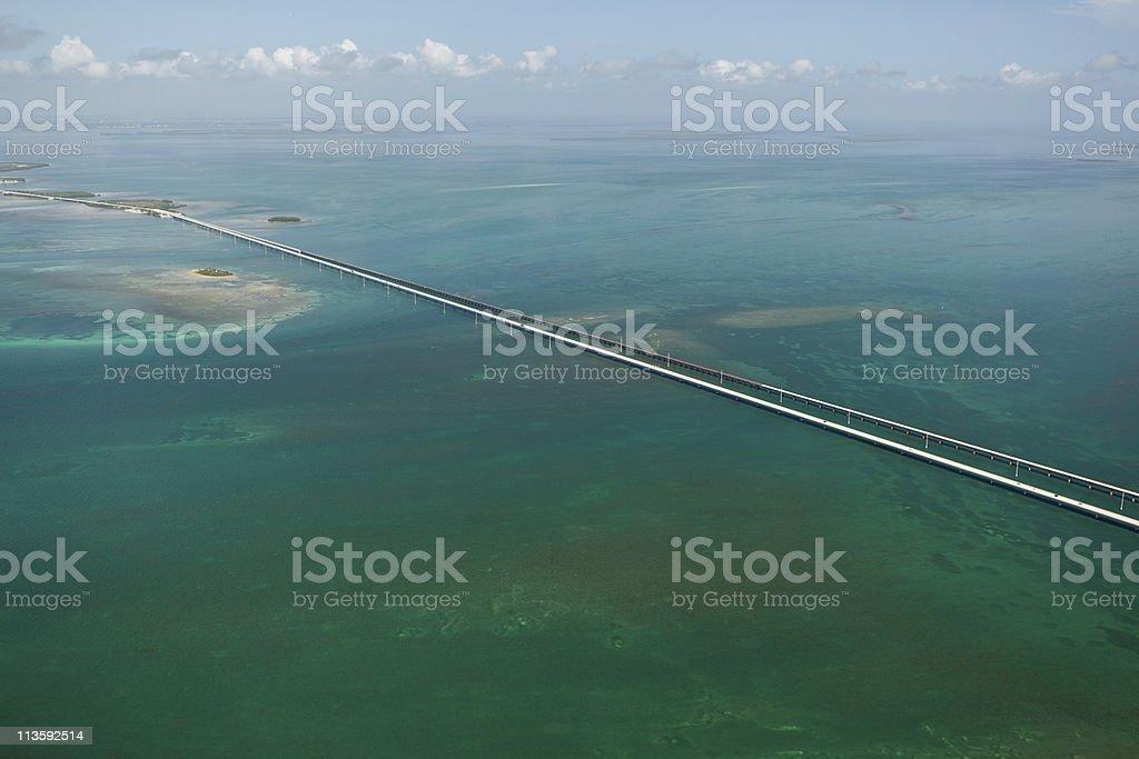 Aerial photo of Seven Mile Bridge, Florida stock photo