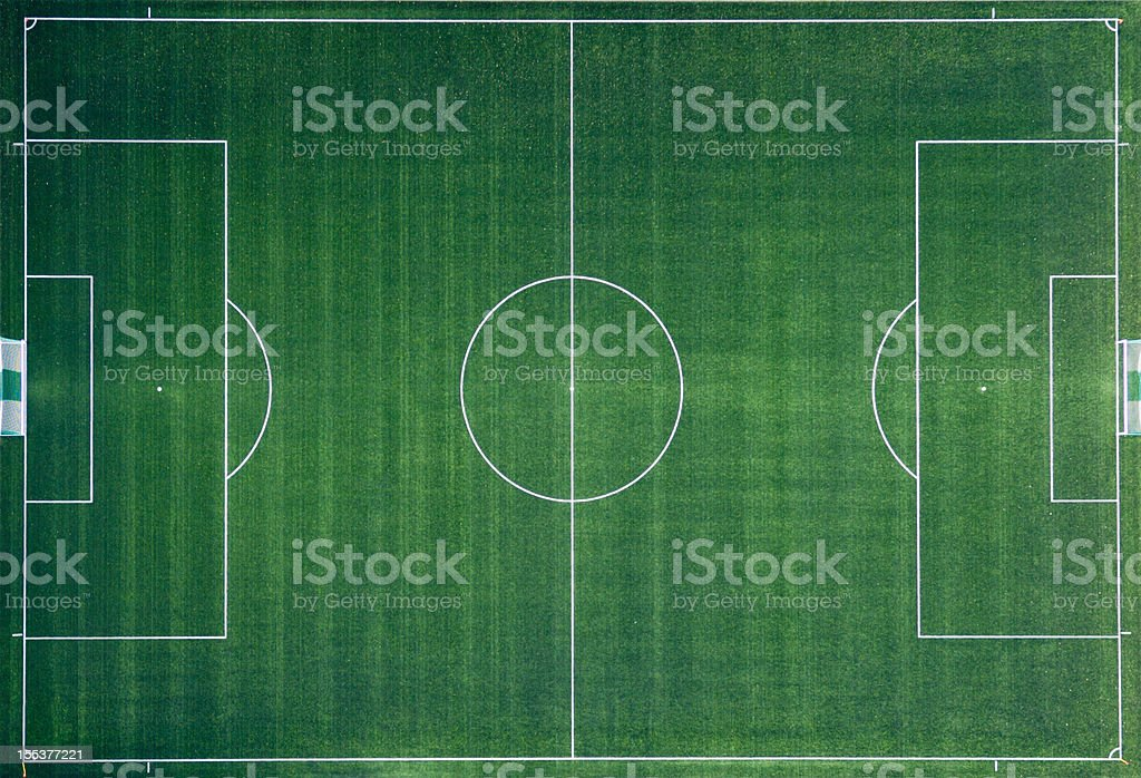 Aerial photo of Soccer Field stock photo