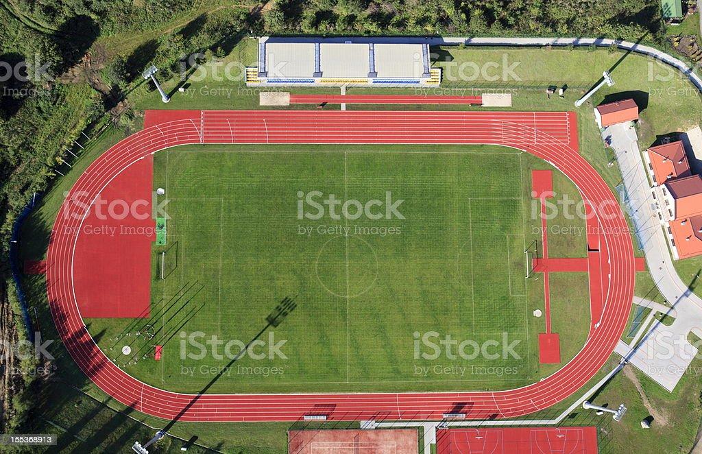 Aerial photo of Stadium in Gniewino stock photo