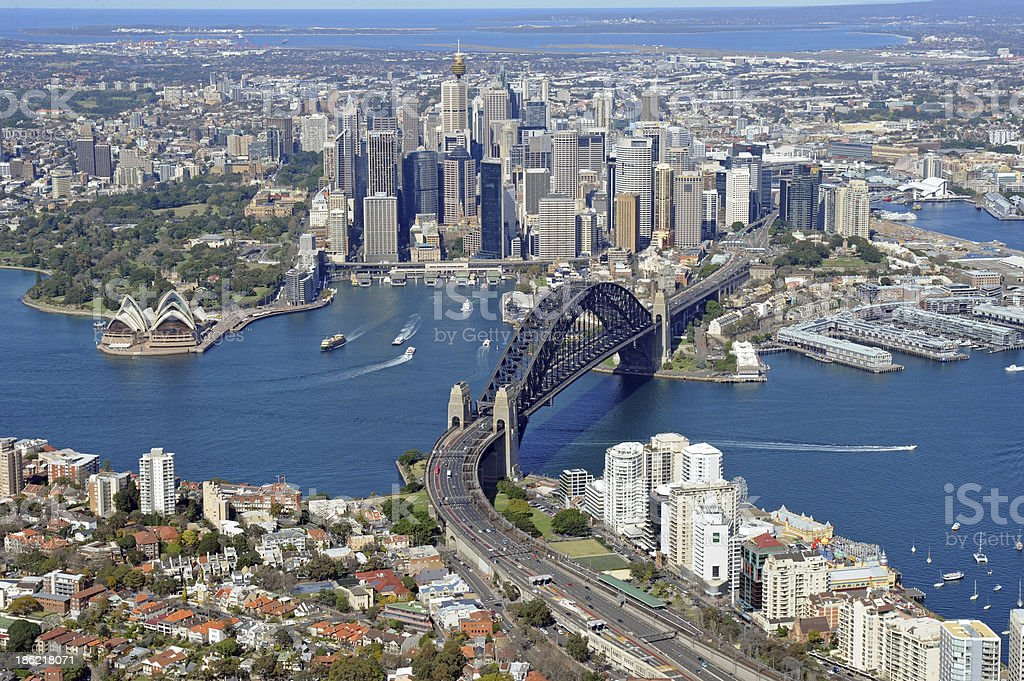 Aerial Photo of Sydney City stock photo