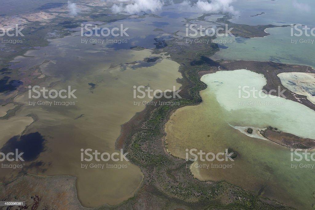 Aerial photo of the Everglades, Florida stock photo