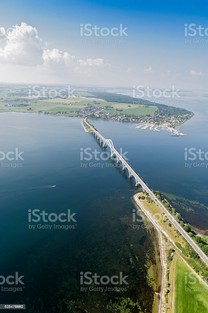 Aerial Photo of The Island of Møn in Denmark stock photo
