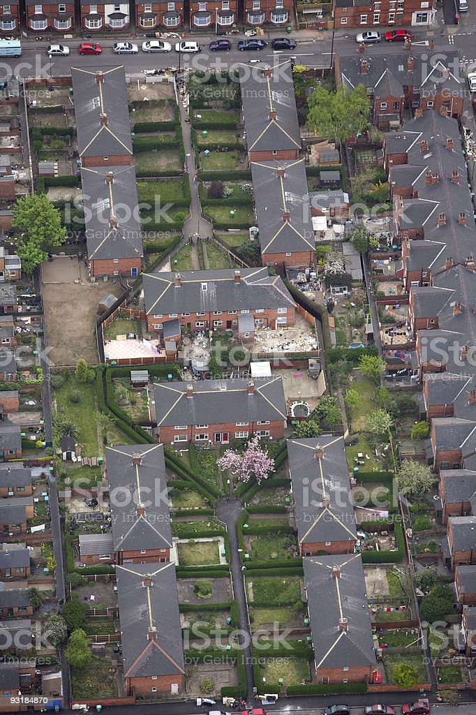 Aerial photo of urban housing royalty-free stock photo