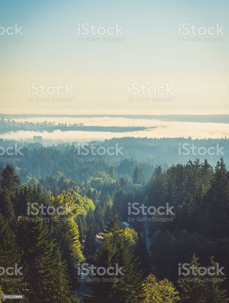 Aerial photo of Vancouver stock photo