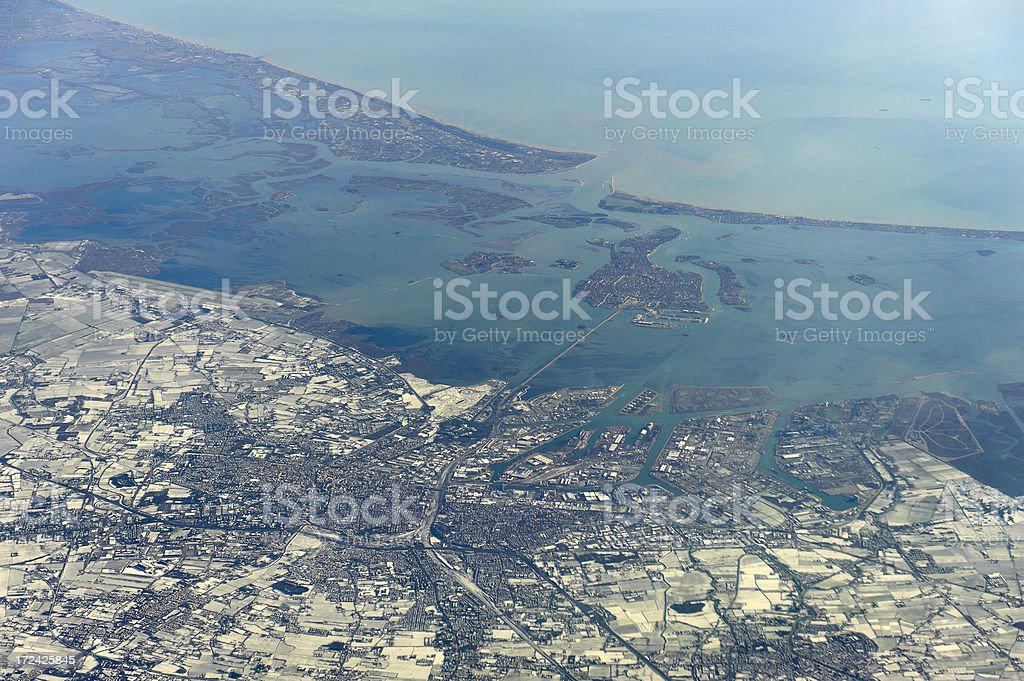 aerial photo of venice, italy royalty-free stock photo