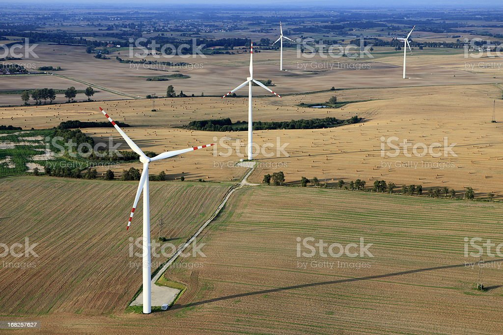 Aerial photo of Wind Farm royalty-free stock photo