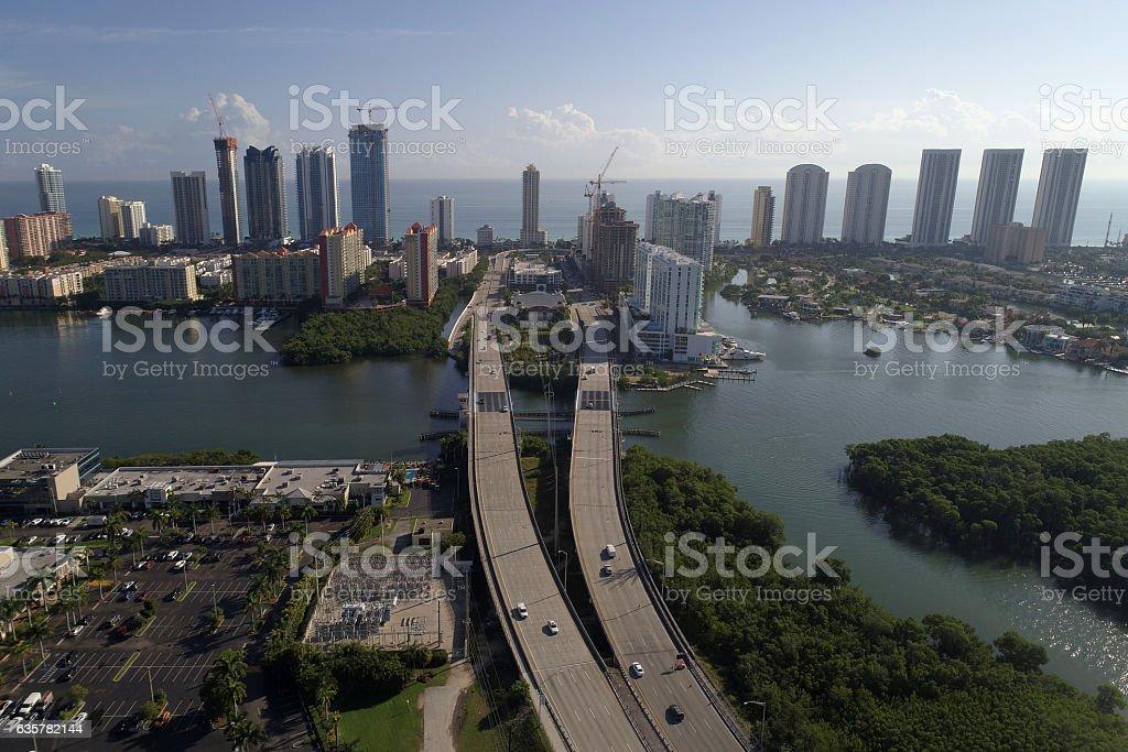 Aerial photo Sunny Isles Beach FL stock photo
