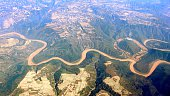 Aerial photo- the Yellow River in China