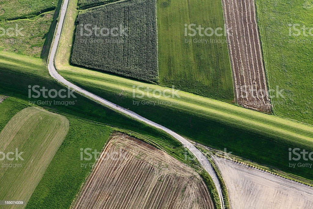Aerial photo Vistula flood embankment royalty-free stock photo