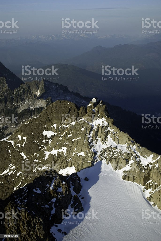 Aerial Photograph of a Fire Lookout. royalty-free stock photo