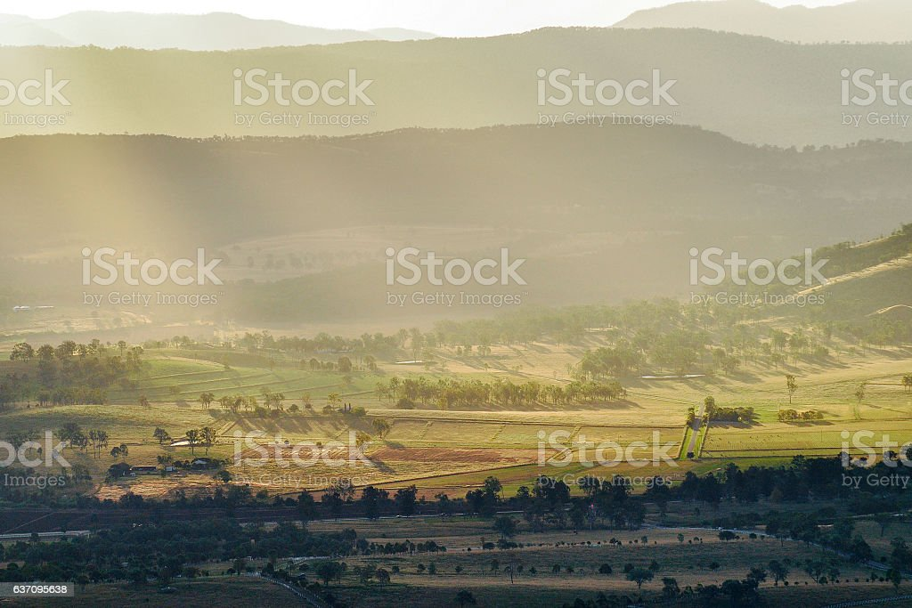 Aerial photograph of agriculture and farming stock photo