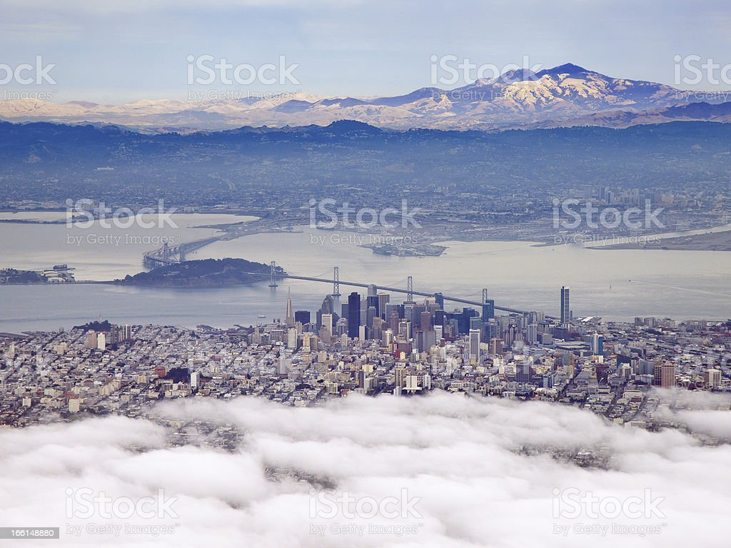 Aerial Photograph of San Francisco and The Bay Area royalty-free stock photo