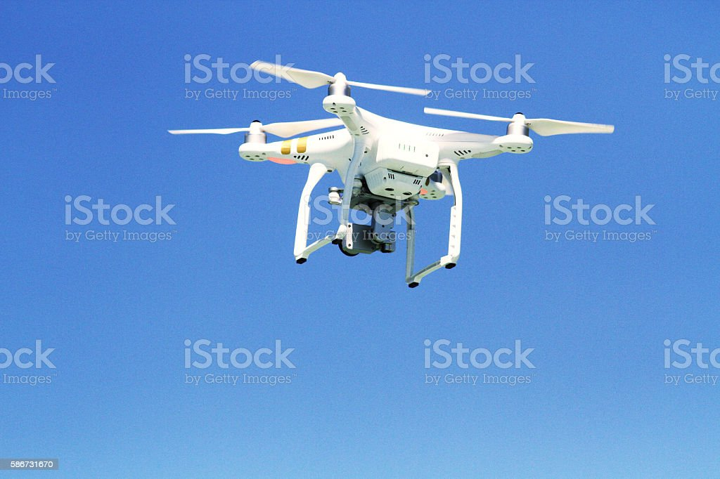 Aerial photography by drone motion in the air in motion stock photo