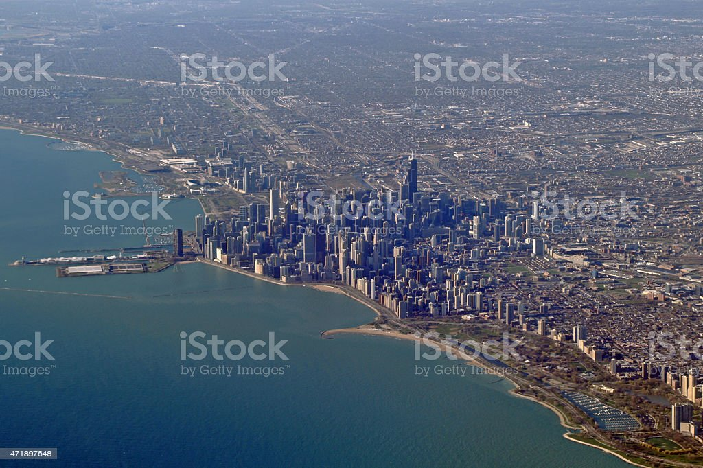 Aerial photography - City of Chicago stock photo