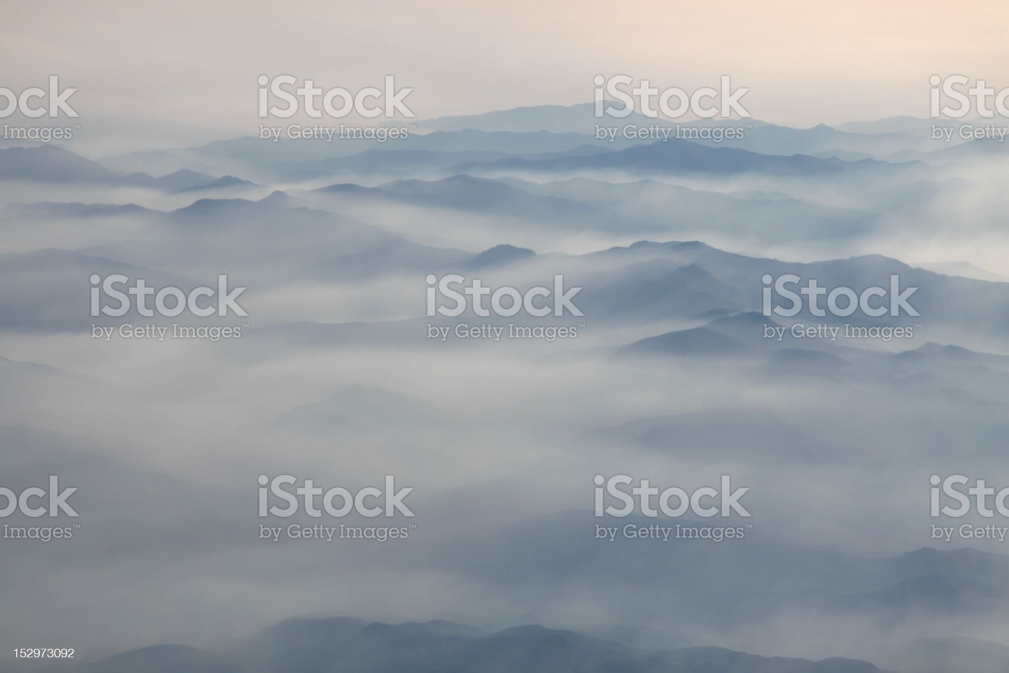 aerial  photography with clouds royalty-free stock photo