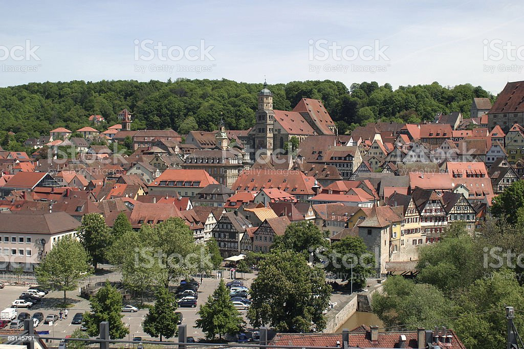 aerial picture of Schwäbisch Hall royalty-free stock photo