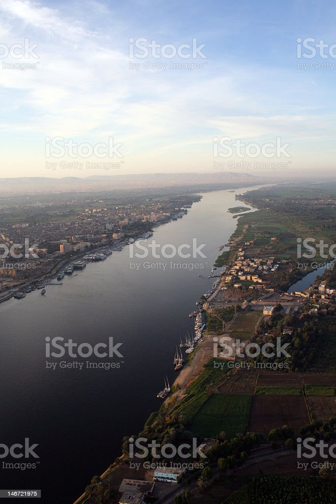 Aerial picture of the River Nile stock photo