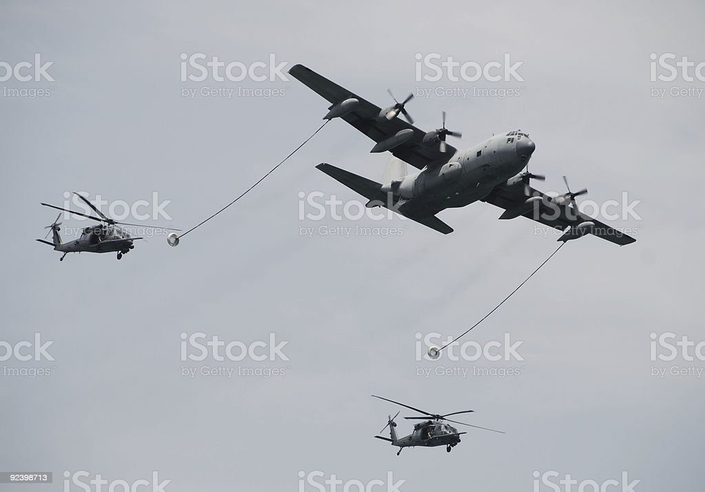 Aerial refueling operation royalty-free stock photo