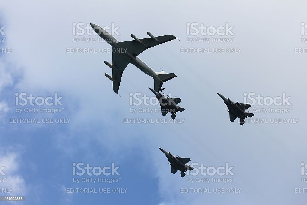 Aerial refueling royalty-free stock photo
