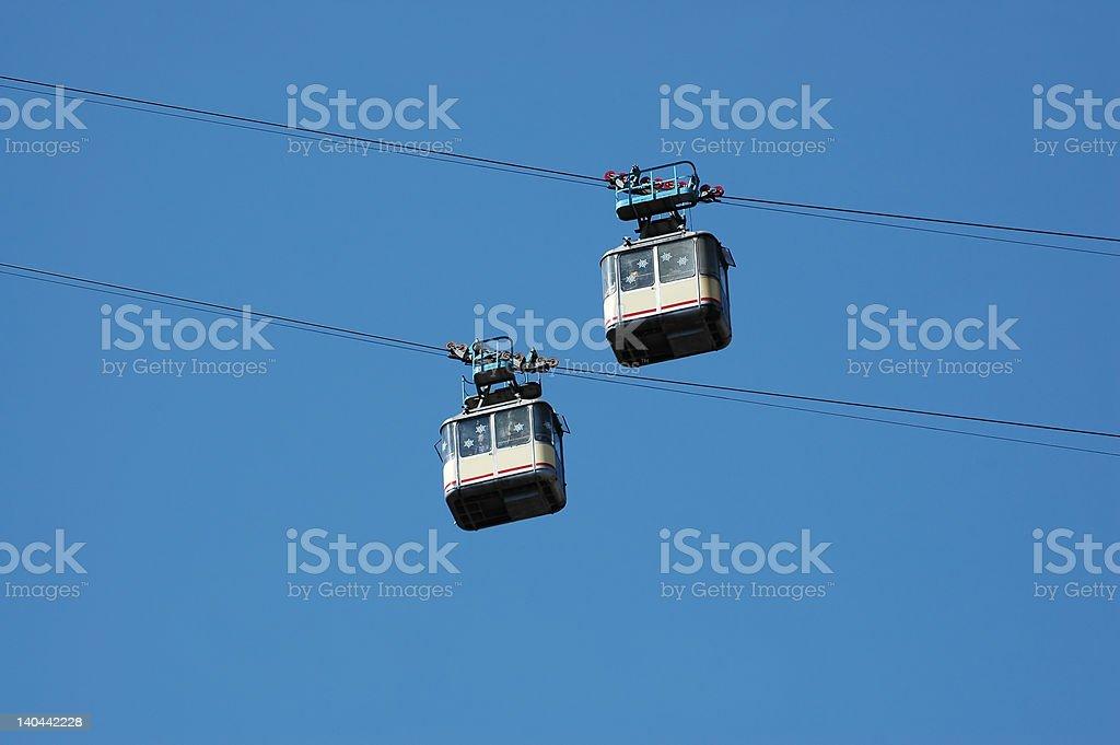 aerial ropeway stock photo