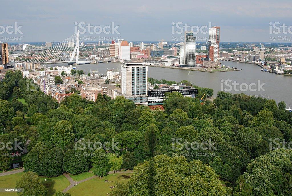 Aerial Rotterdam royalty-free stock photo