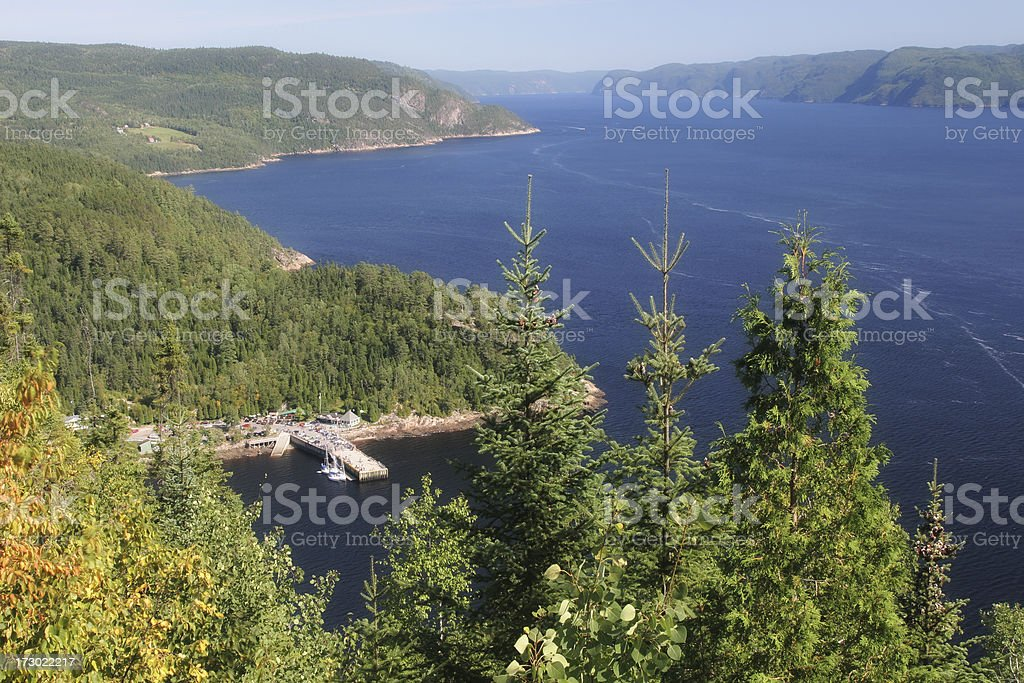 Aerial Saguenay River View stock photo